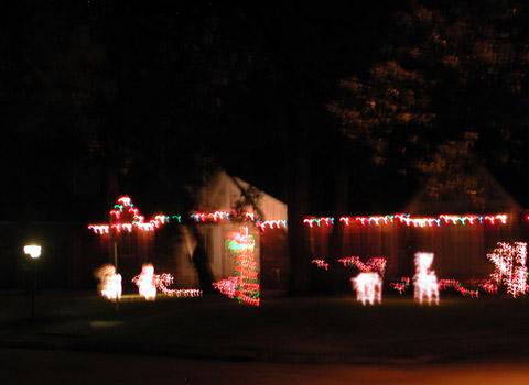 cherry's christmas display