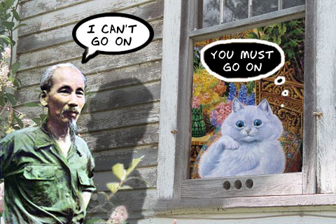 ho chi minh solicits advice from the master of cat college.